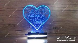 بالبینگ سه بعدی طرح قلب آبی