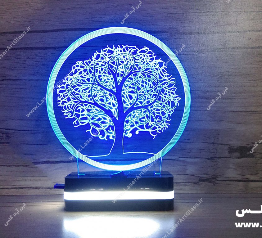 بالبینگ سه بعدی طرح درخت آبی