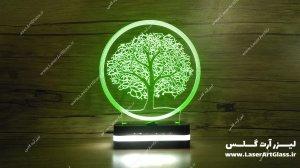 بالبینگ سه بعدی طرح درخت سبز