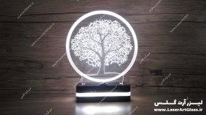 بالبینگ سه بعدی طرح درخت سفید