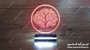 بالبینگ سه بعدی طرح درخت قرمز