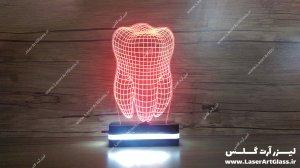 بالبینگ سه بعدی طرح دندان