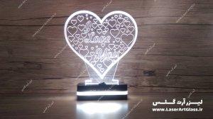 بالبینگ سه بعدی طرح قلب سفید