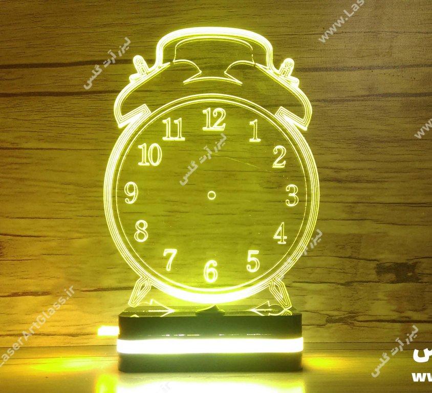 بالبینگ سه بعدی پلکسی گلاس ساعت رومیزی