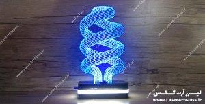 بالبینگ سه بعدی طرح لامپ آبی