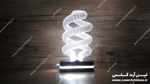 بالبینگ سه بعدی طرح لامپ یکبار مصرف