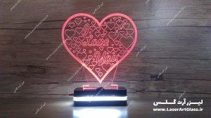 بالبینگ سه بعدی طرح قلب قرمز