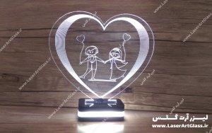 بالبینگ سه بعدی طرح عروس و داماد