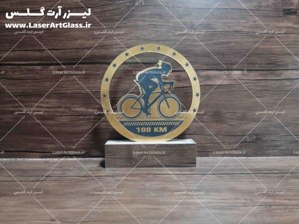 تندیس پلکسی مسابقات دوچرخه سواری