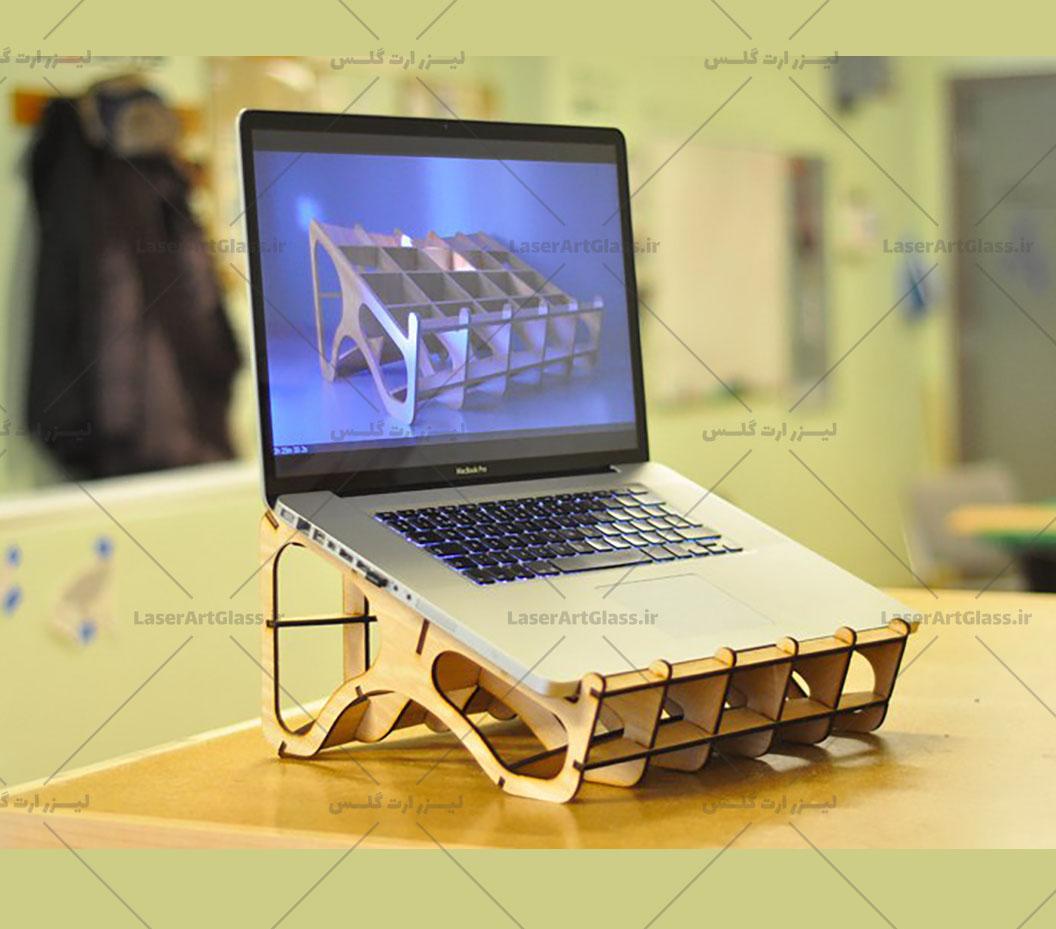 فایل برش لیزر پایه نگهدارنده لپ تاپ